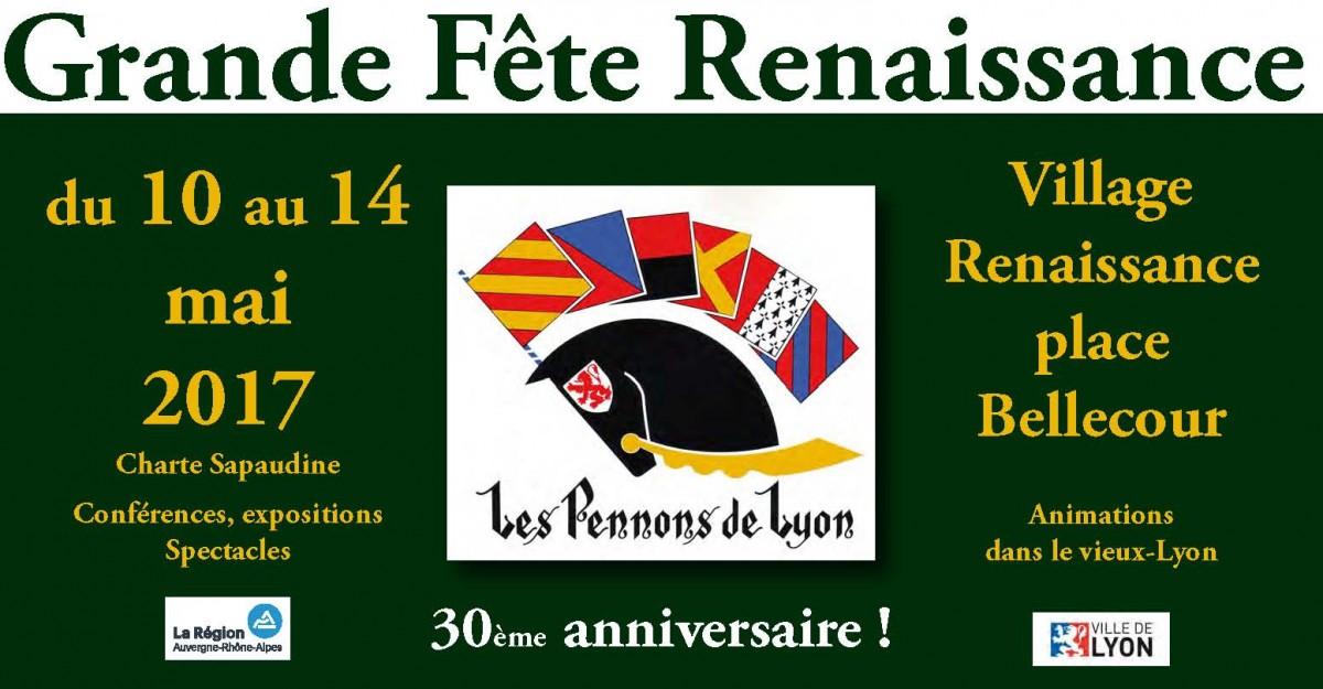 30ème ANNIVERSAIRE de LA RENAISSANCE DES PENNONS DE LYON