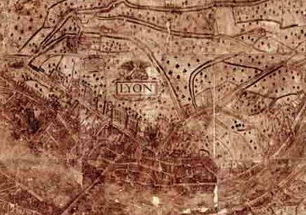 Vieux plan de Lyon