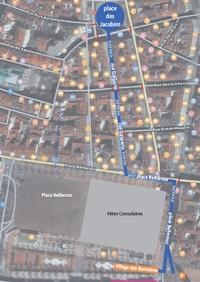 plan du défilé des bannières du monde a Lyon